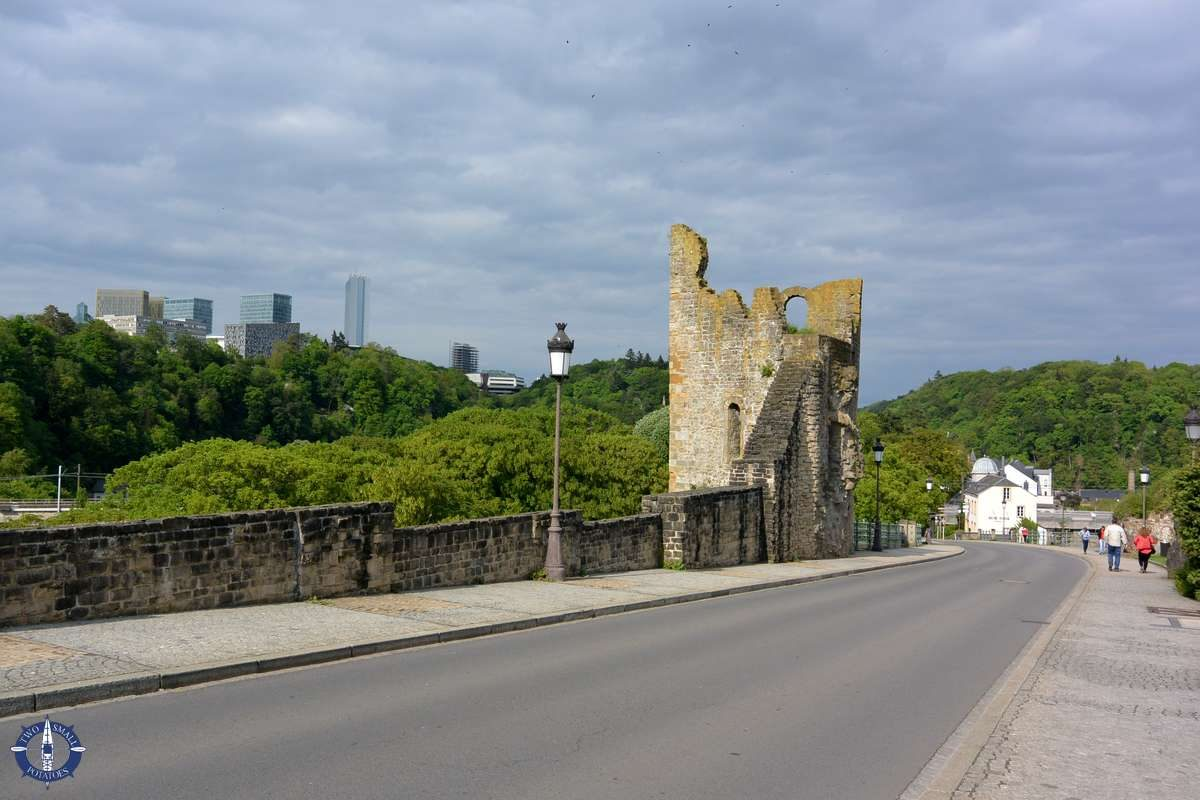 Hollow Tooth ruin of the Bock Casemates in Luxembourg City