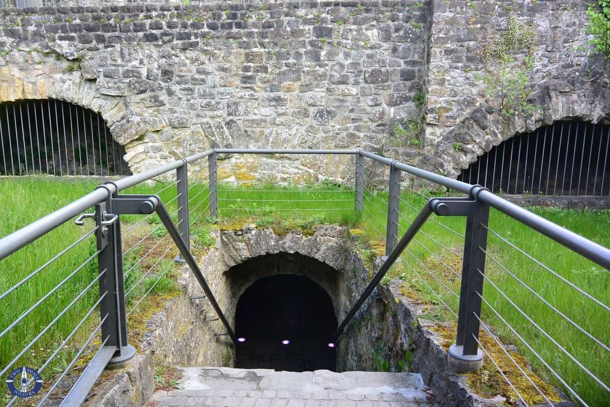 Entrance to the tunnels of the Bock Casemates, Luxembourg City