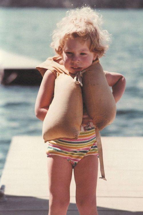 My sister on Coeur d'Alene Lake, circa 1980