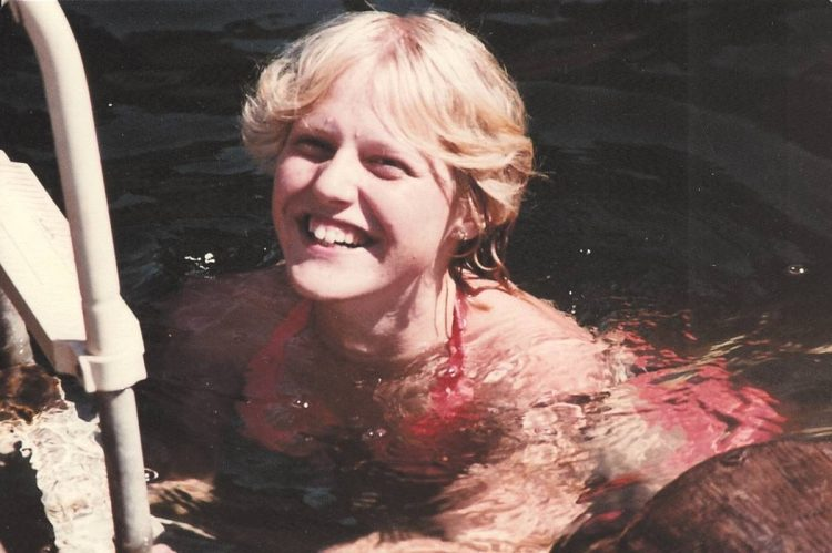 My sister swims in Coeur d'Alene Lake, Idaho