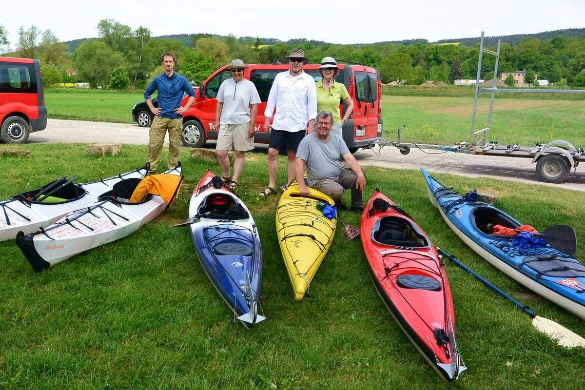 Our Goettingen Paddling Club group, Germany
