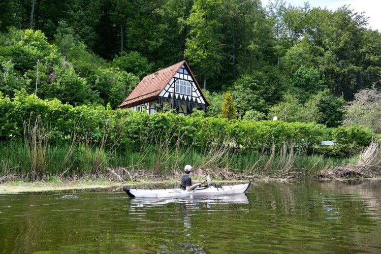 Picturesque German home along the Werra River