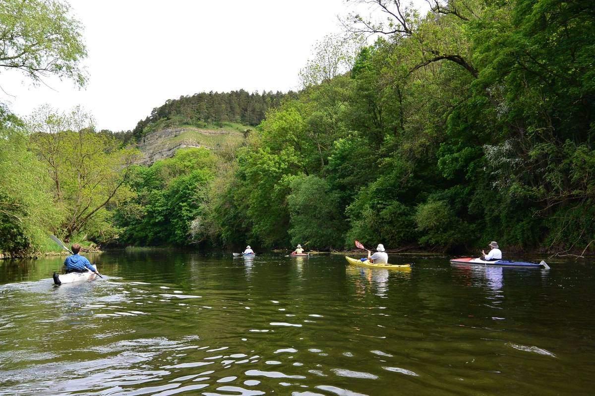 kayaking the Werra River
