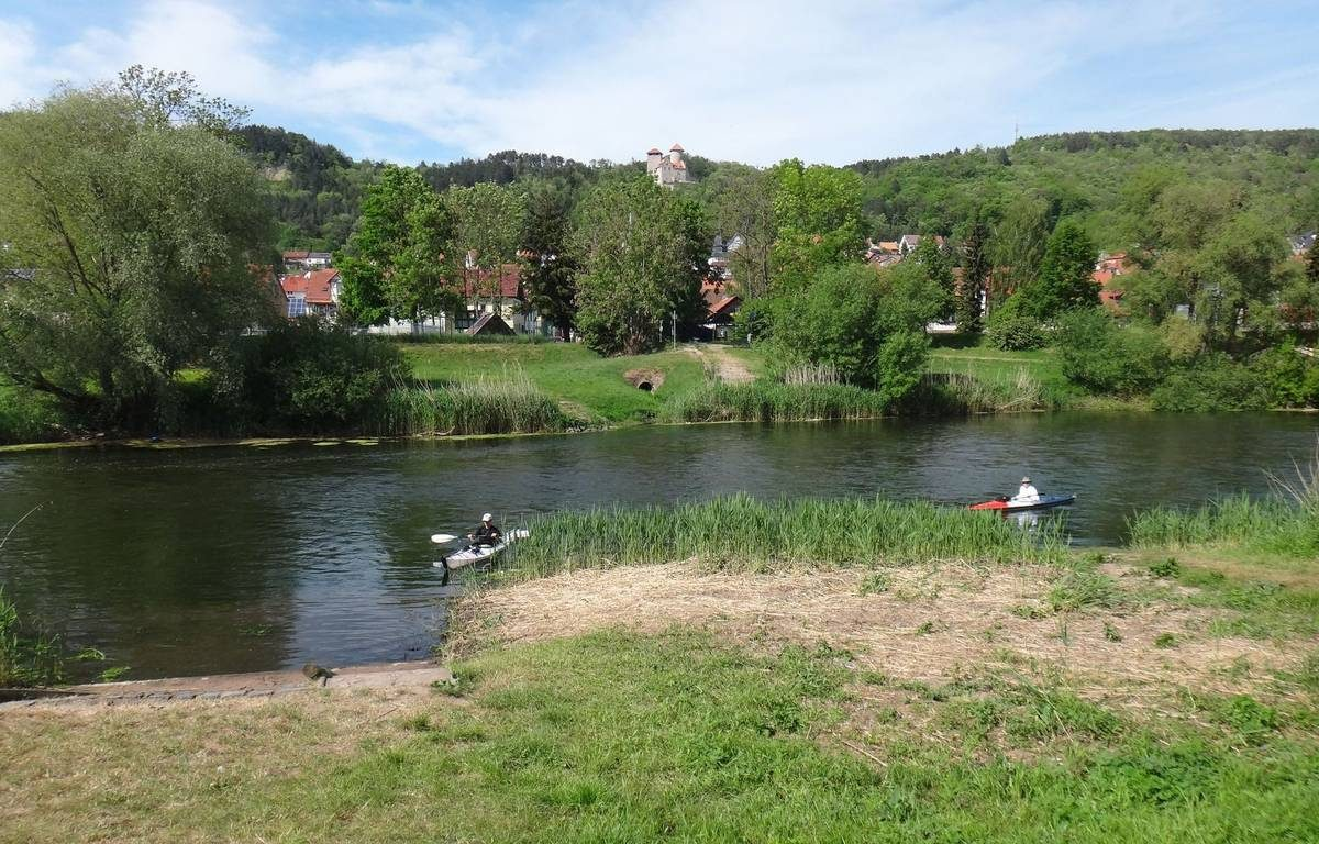 Take out for Werra River kayaking trip, Germany