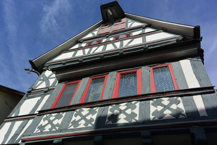 Half timbered house in Creuzberg, Germany