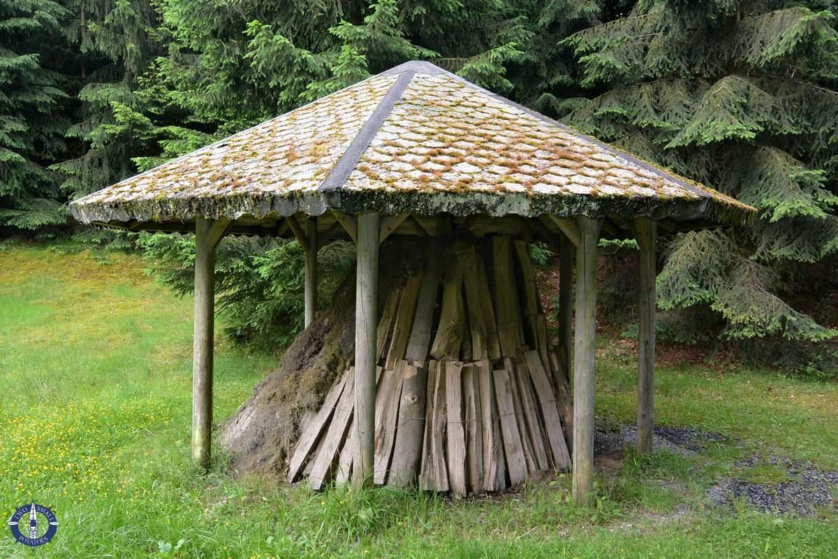 Charcoil kiln at Kellerwald-Edersee National Park in Germany