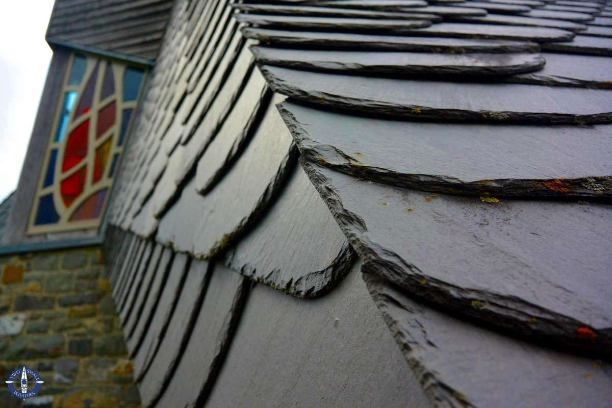 Slate roof of the Quernskapelle in Kellerwald-Edersee