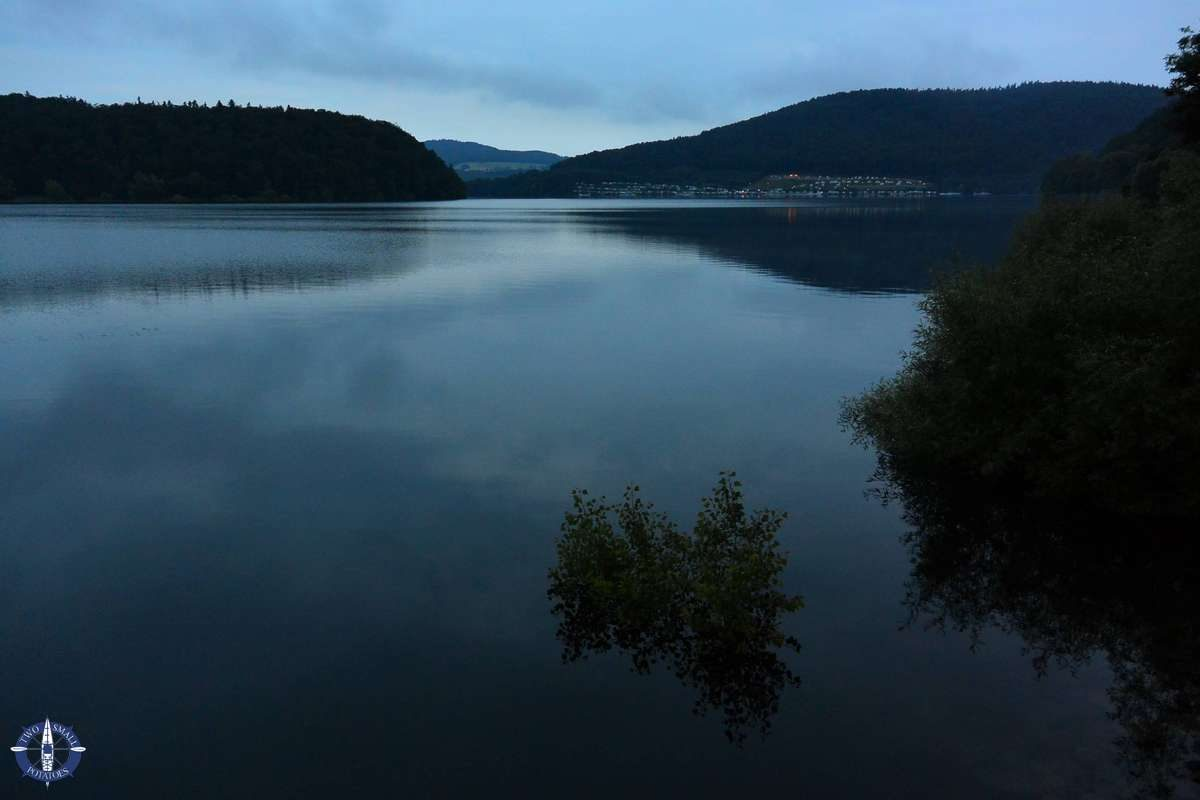 Edersee Lake at night in Germany