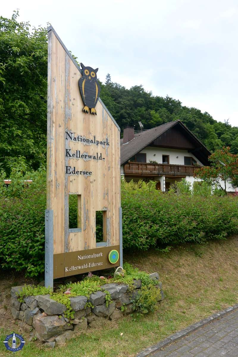 Entrance sign to Kellerwald Edersee National Park in Germany