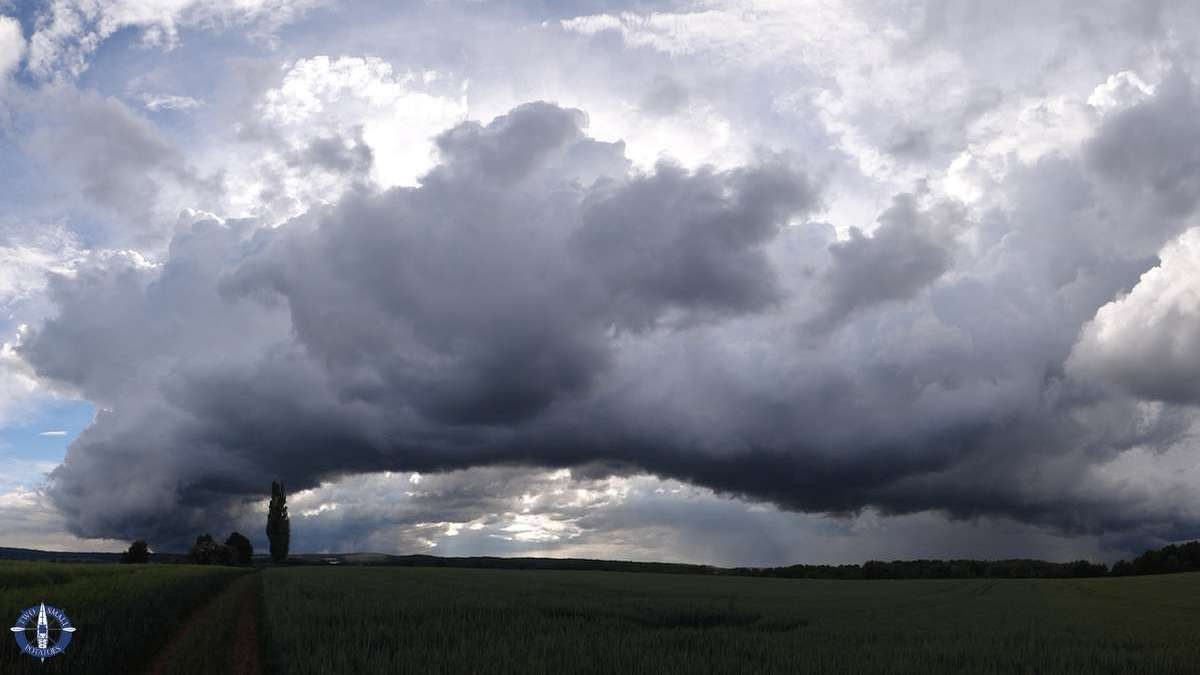 Storm clouds in Thuringia, Germany