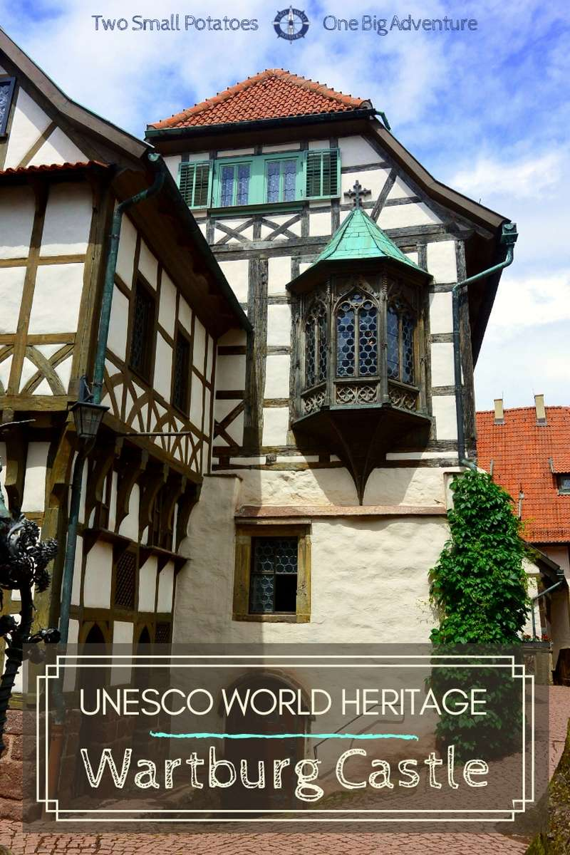 The exiled Martin Luther translated the New Testament into German at Wartburg Castle. Castle buffs won't want to miss this hilltop beauty. | #UNESCO #WartburgCastle #TatersTravels