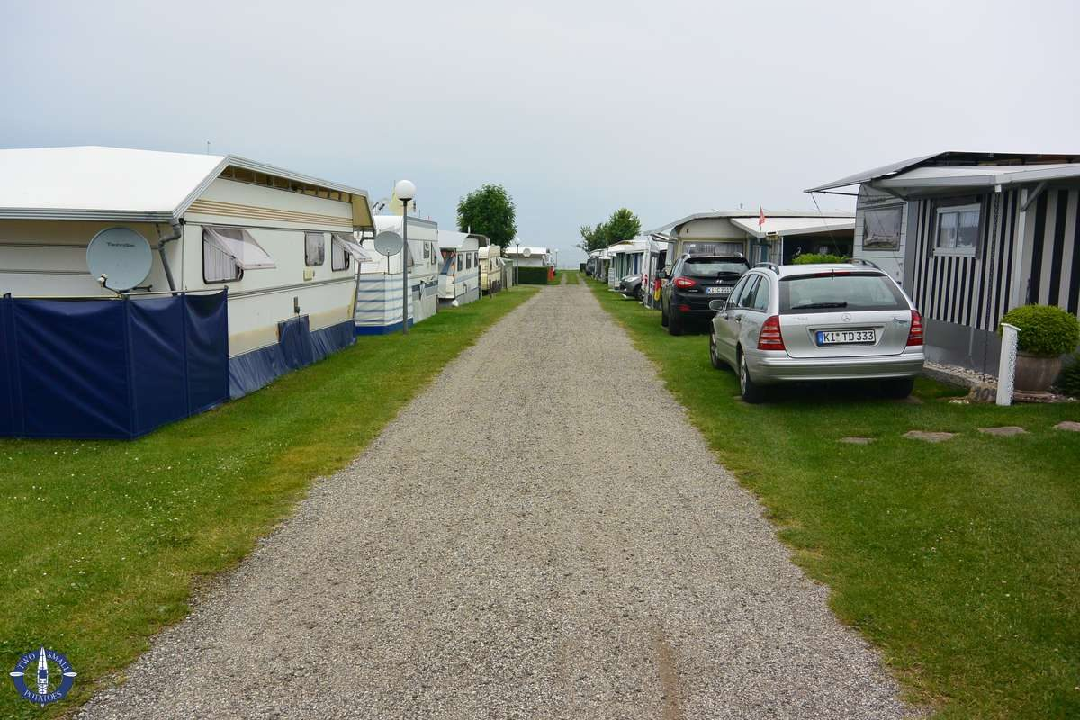 Camping at Ostsee-Camp Kliff Ellernbrook on the Baltic Sea, Germany