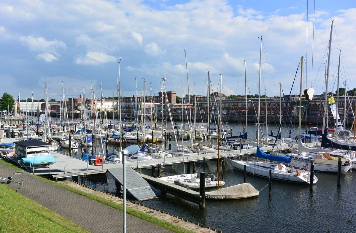 Marina on the Schwentine in Kiel