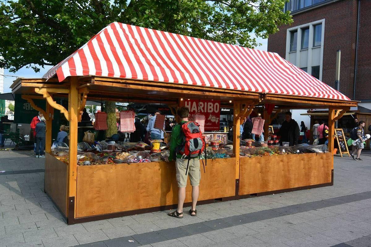 Haribo booth at Kiel Week, Germany