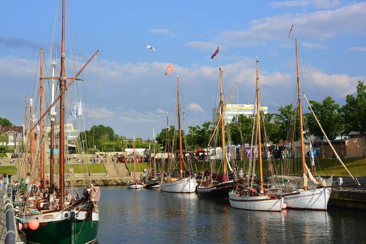 Tall ships docked at Kiel Week, Germany