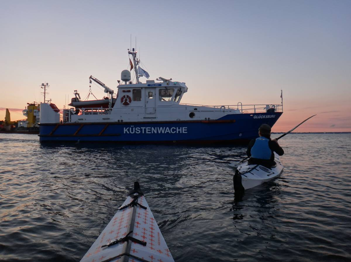 Visit from the police in Kiel, Germany