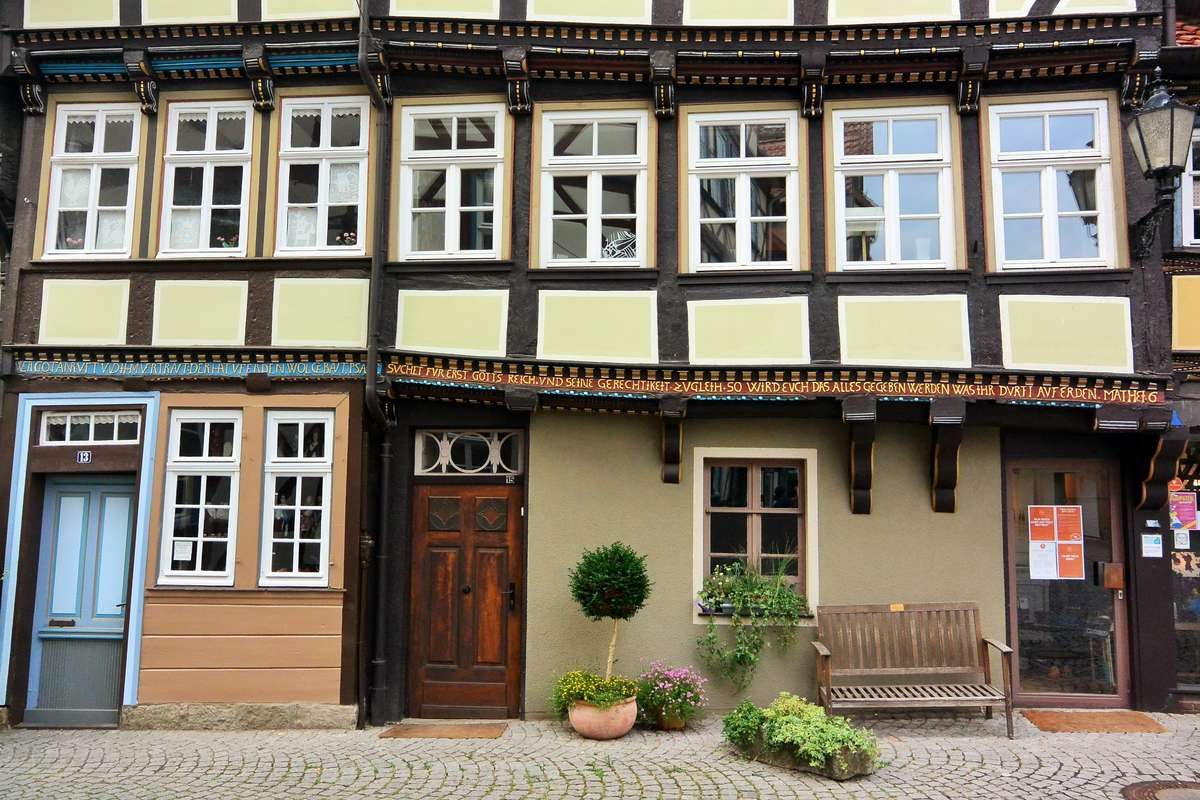 Half Timbered Houses of Hann Munden print for sale on FAA