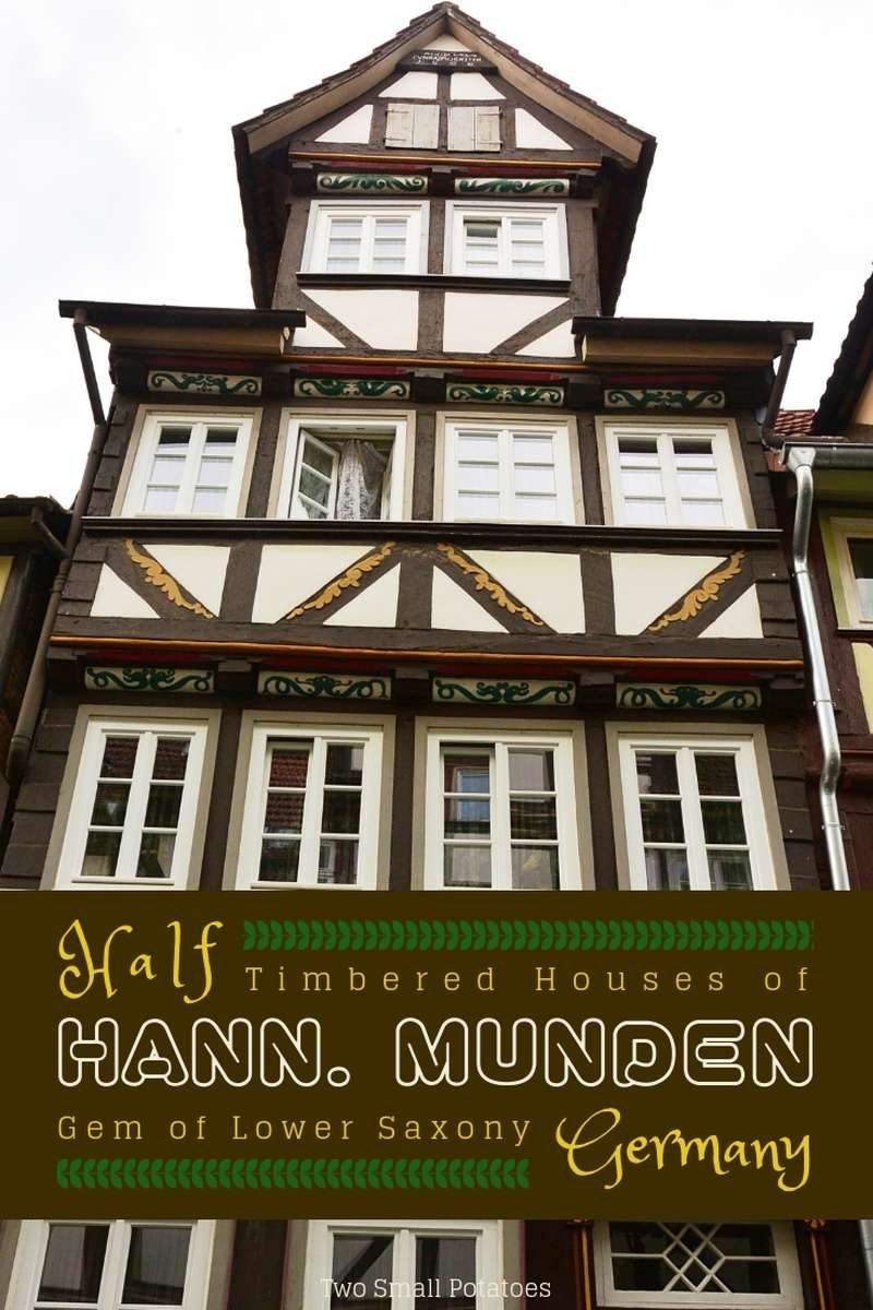 Brown and white half-timbered house in Hann Munden, Germany
