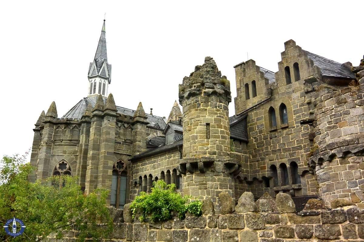 Löwenburg Castle in Kassel, Germany