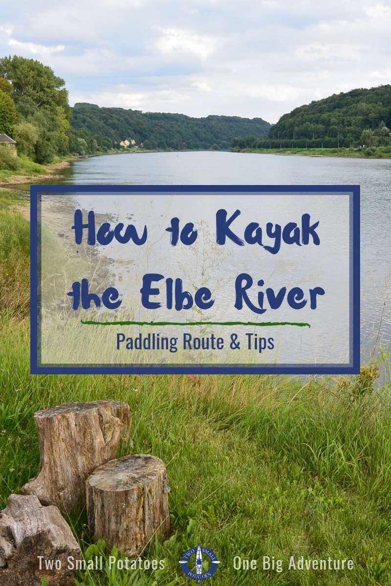 Experience Saxony's Bastei Bridge from a unique perspective - kayaking the Elbe River. This is an ideal day trip for canoes and rafts too!  #Germany #kayaking #TatersTravels