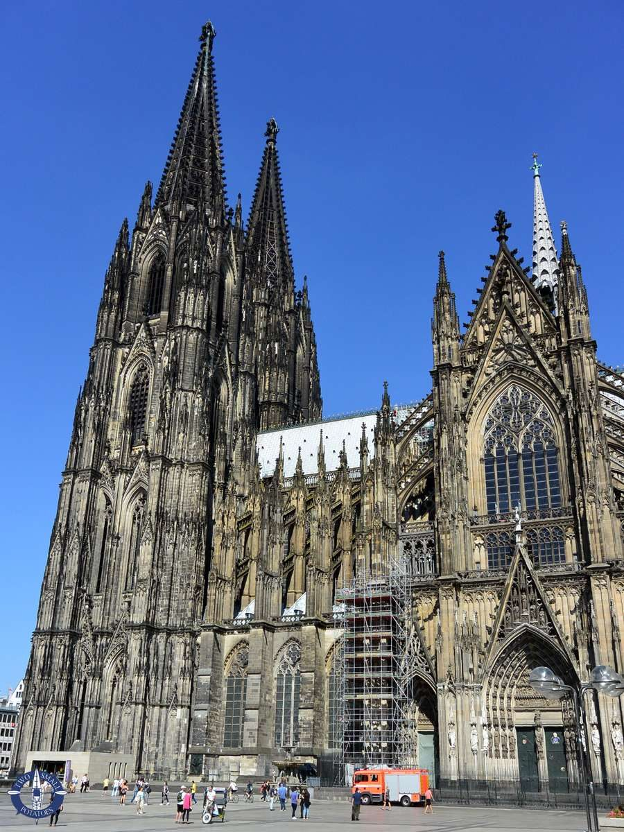Southern facade of the Cologne Cathedral, Germany