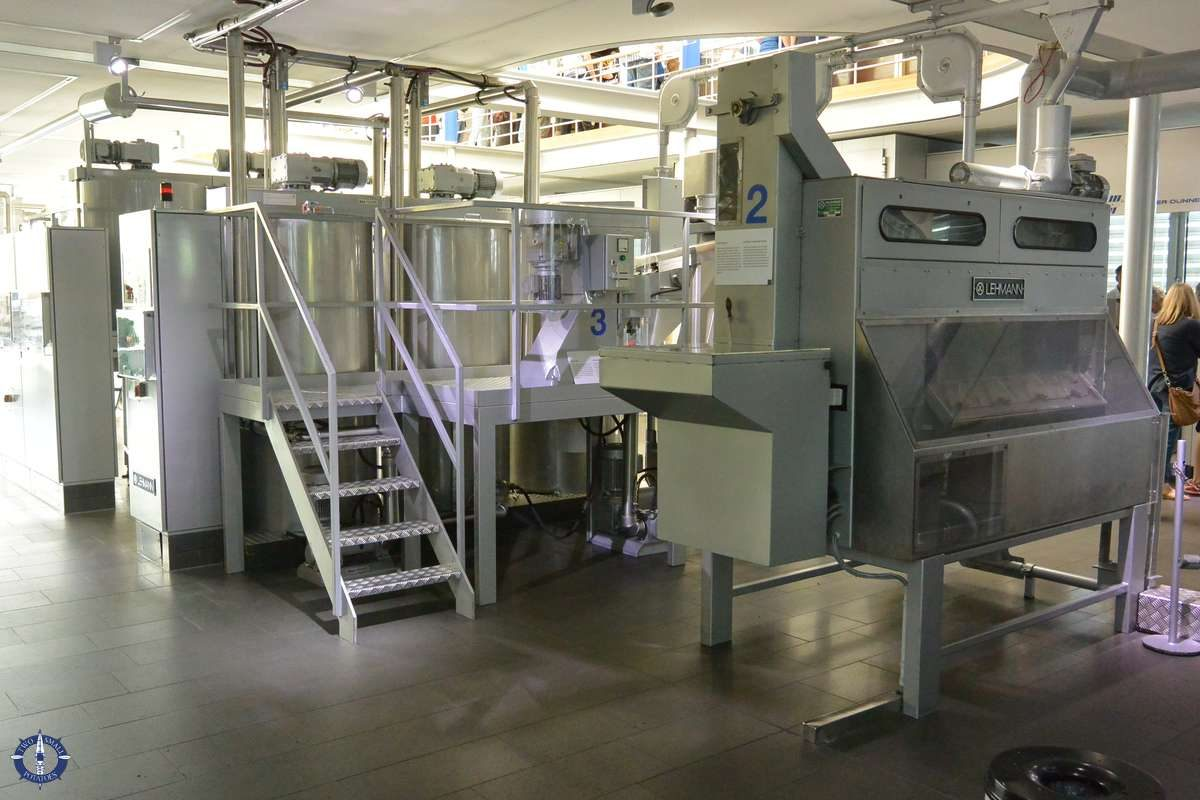 Factory equipment at the Lindt Chocolate Factory in Cologne