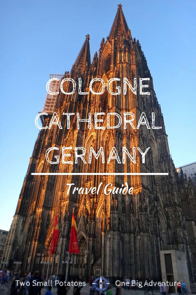 Explore the most visited landmark in Germany - the Cologne Cathedral.  Find out what you need to know before your visit!  #GermanyTourism #CologneCathedral #TatersTravels