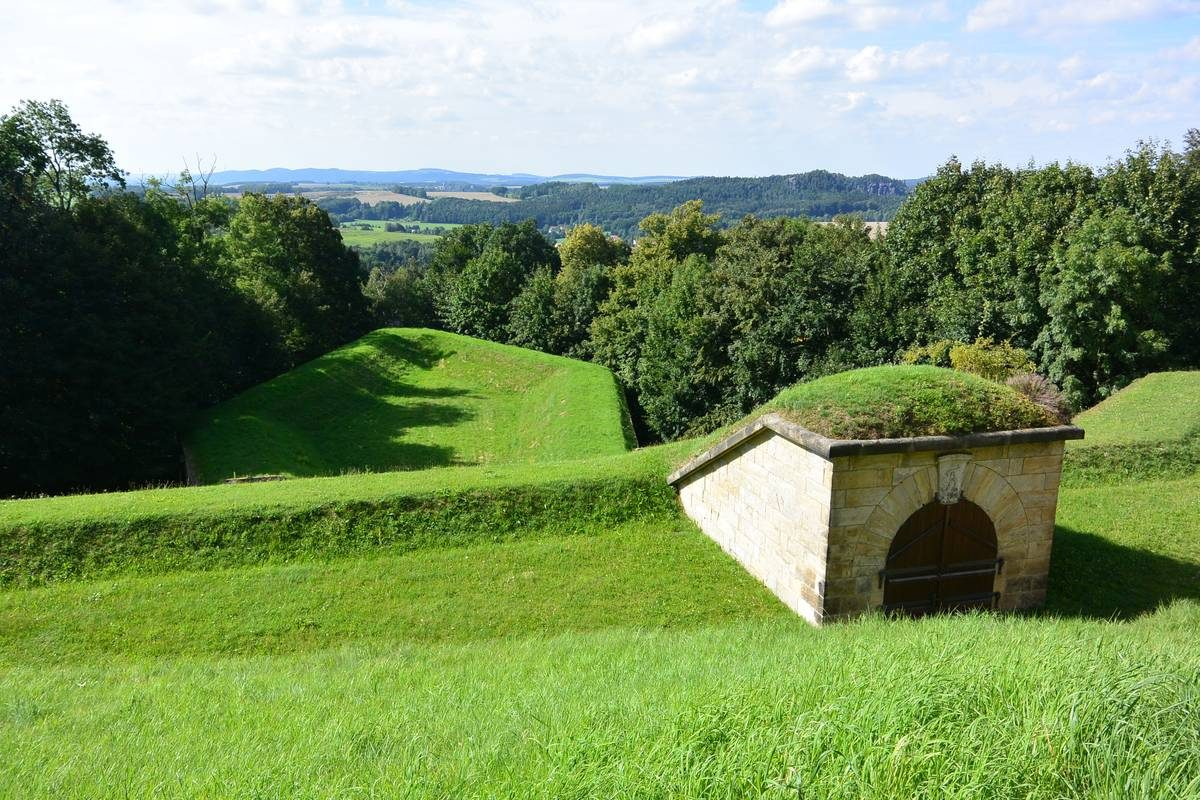 Fieldwork surrounding Konigstein Fortress, Germany