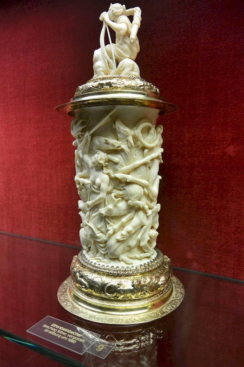 ivory carving at burg eltz