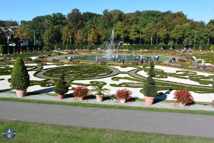 Lavish gardens at the Ludwigsburg Palace in Germany