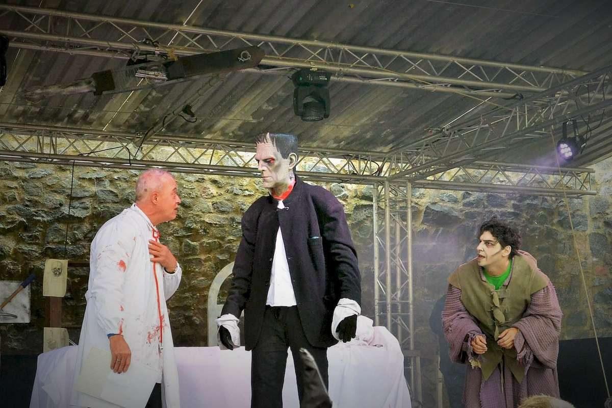 Frankenstein plays at Halloween Burg Frankenstein, Germany