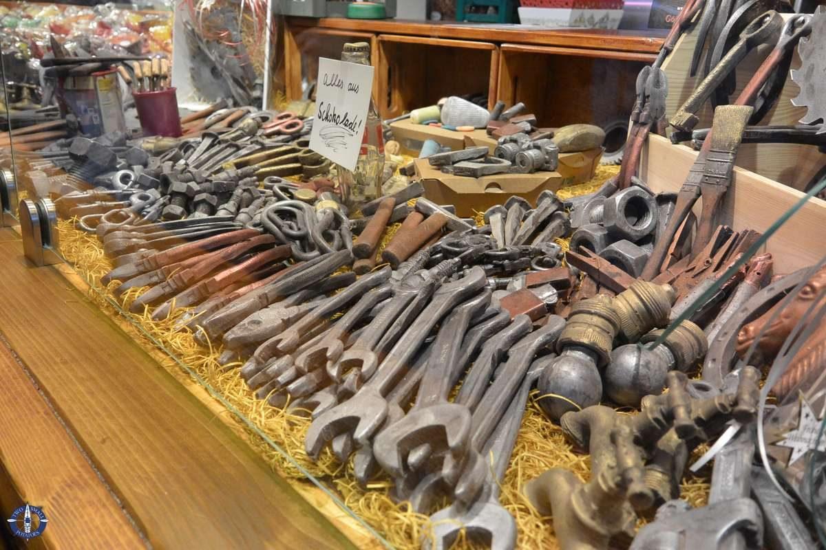 Chocolate tools at the Goettingen Christmas Market
