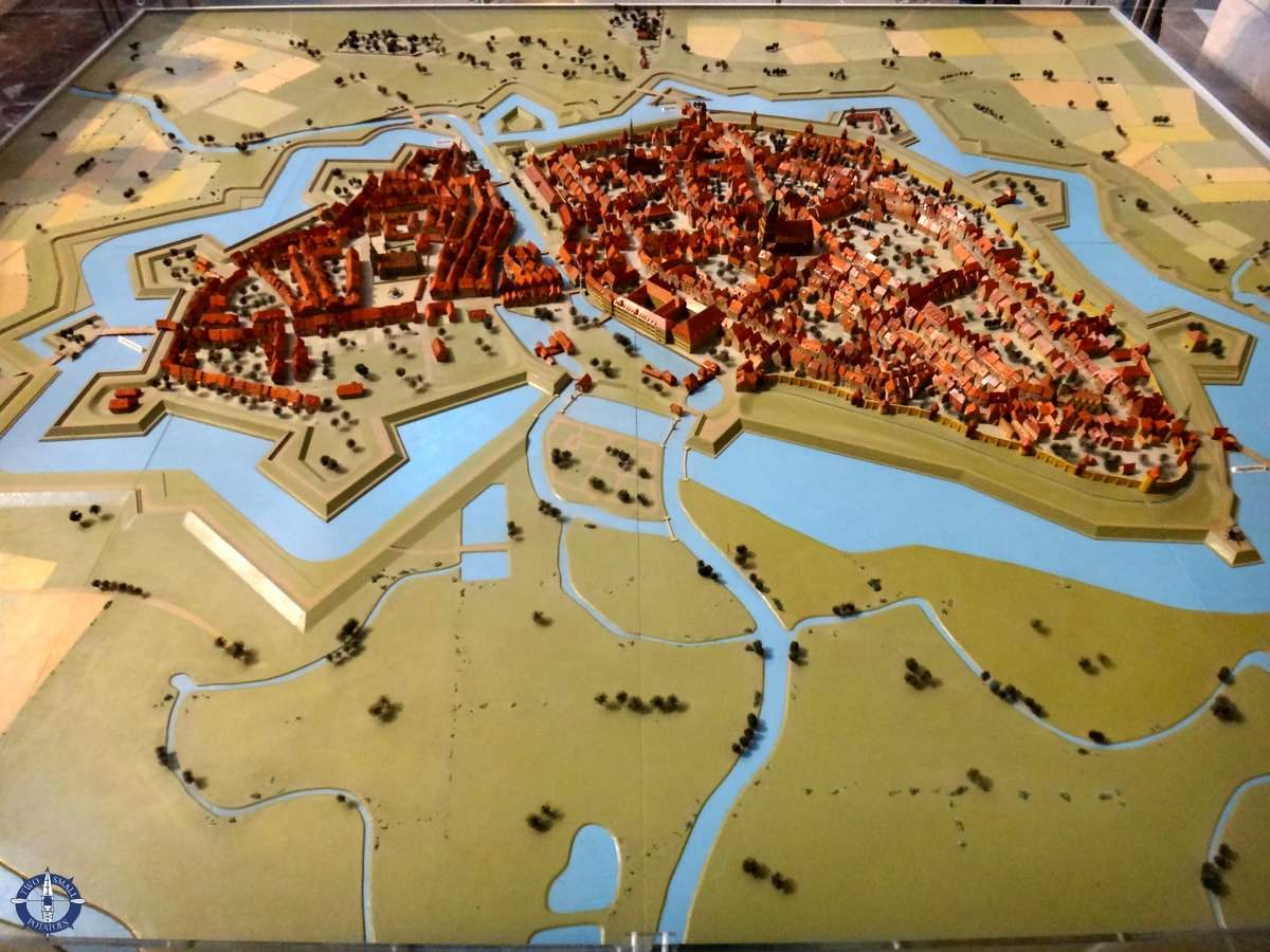 Diorama of Hannover, Germany from 1689