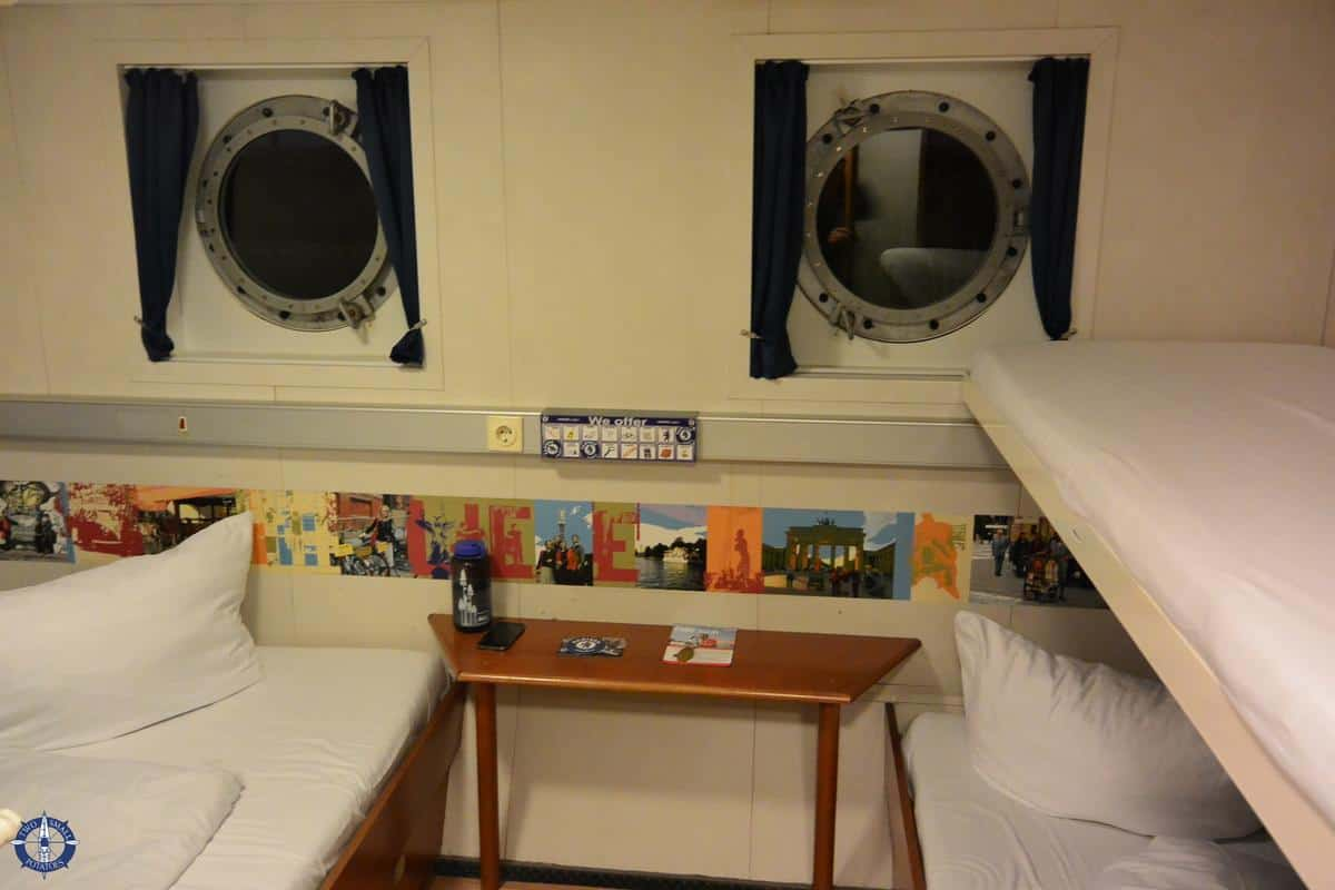our cabin on board the Eastern Comfort Hostel Boat