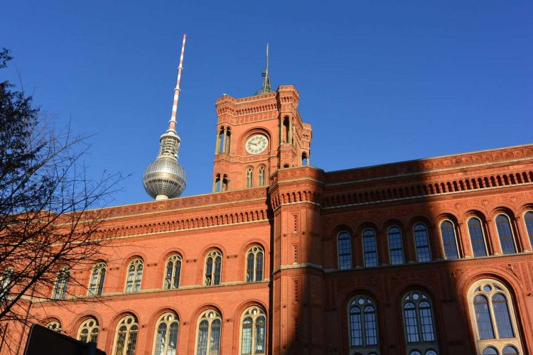 red town hall in berlin