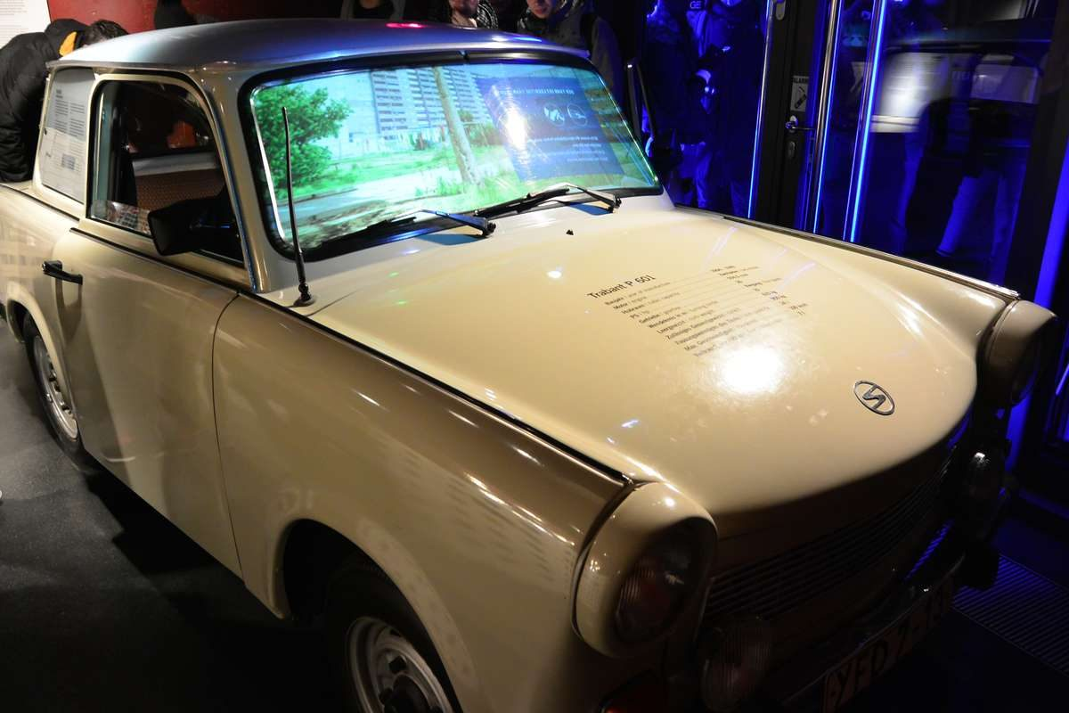 Trabant on display at the DDR Museum in Berlin