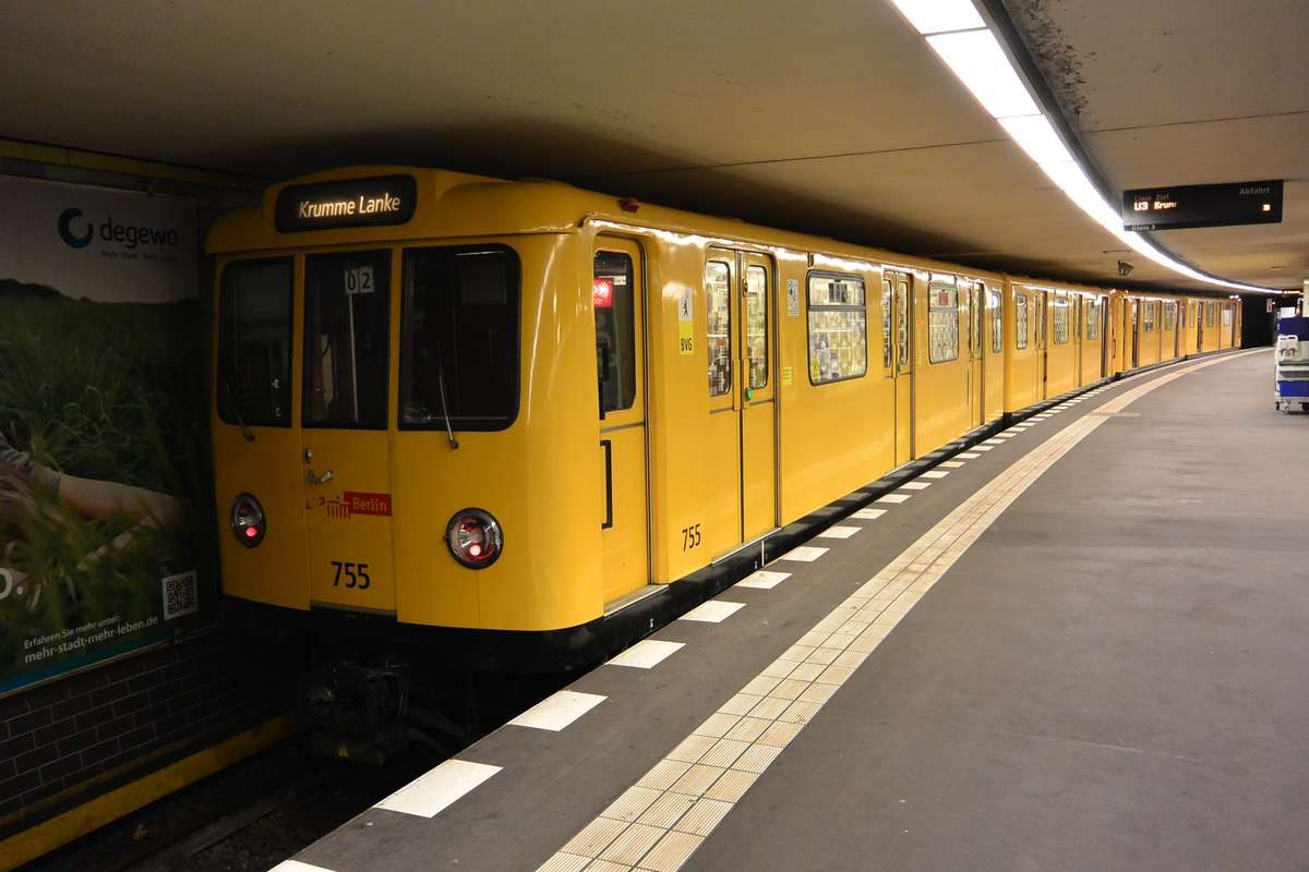 U-Bahn train in Berlin