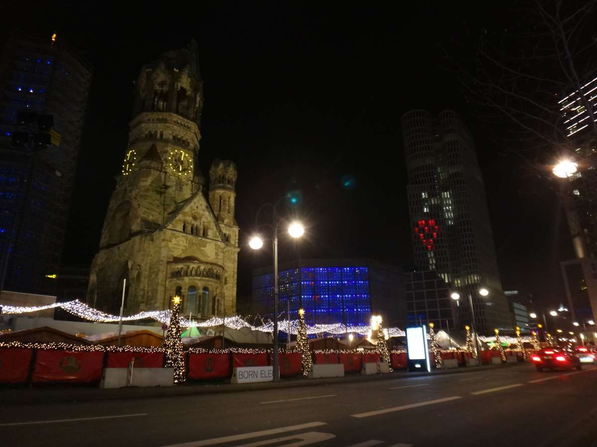 Memorial of the terror attack at the Breitscheidplatz Christmas Market in Berlin