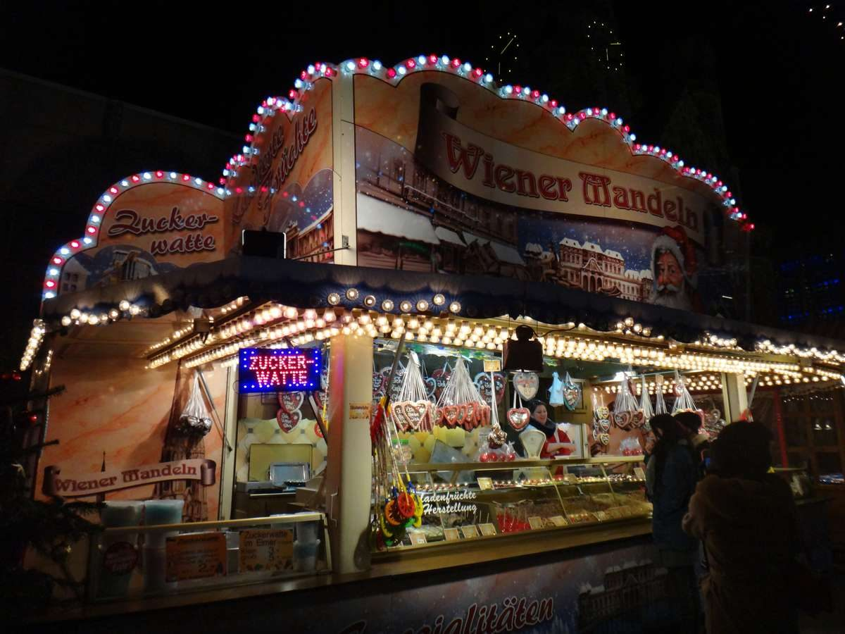 Booth at one of the best Christmas markets in Berlin