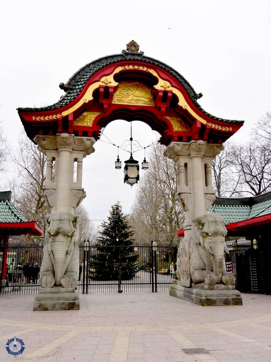 Entrance of Zoo Berlin in Germany