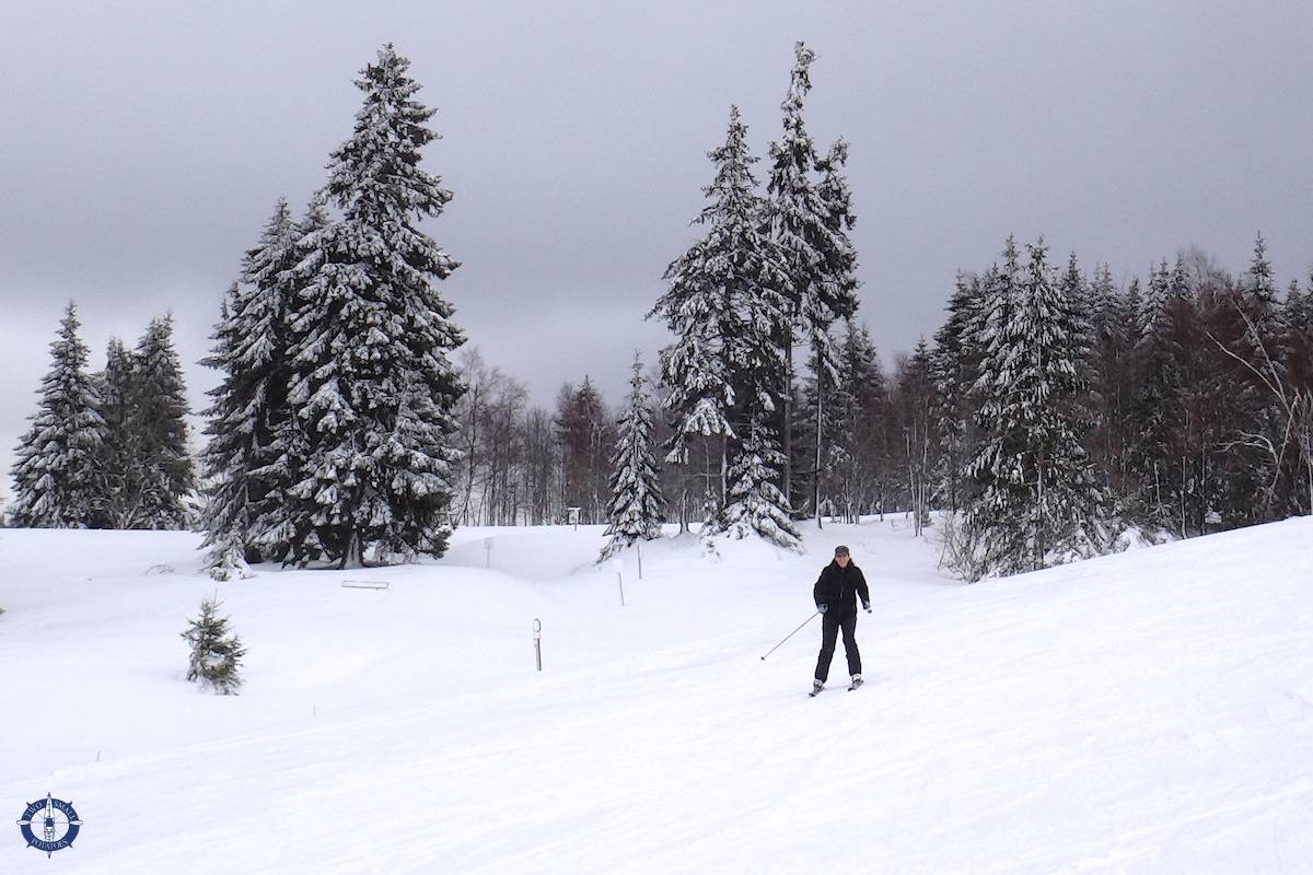 Learning to ski at St Andreasberg Skizentrum in Germany