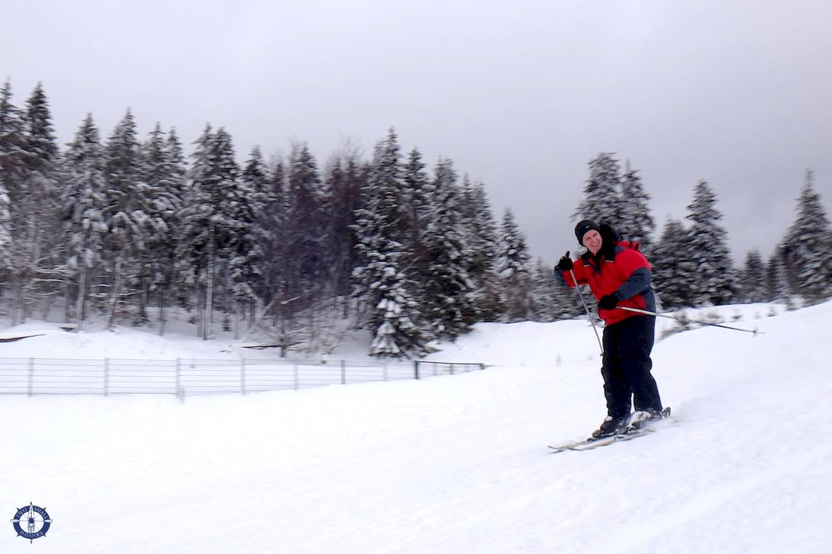 Travis skiing in the Harz Mountains of Germany