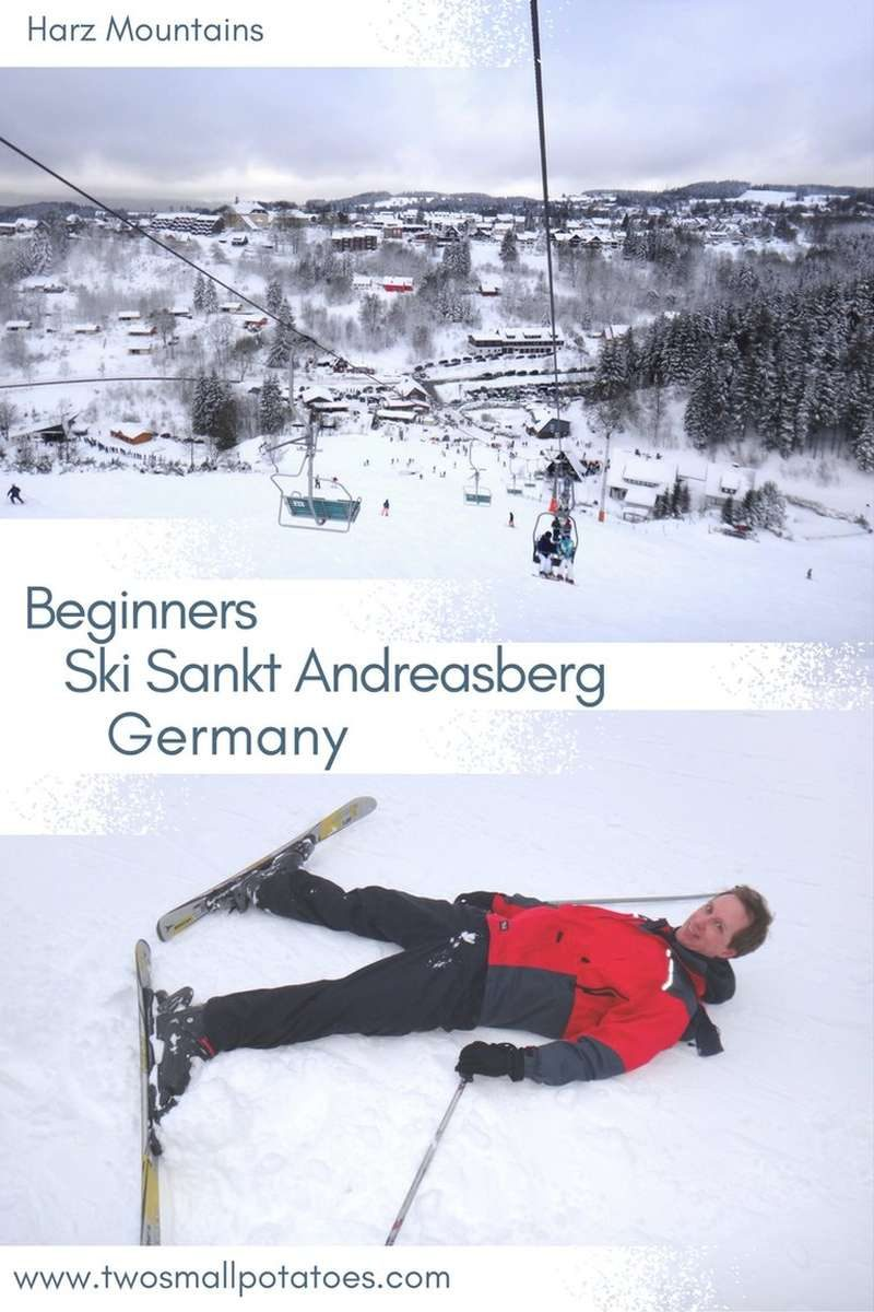 Pinterest PIN for skiing in the Harz Mountains at Sankt Andreasberg