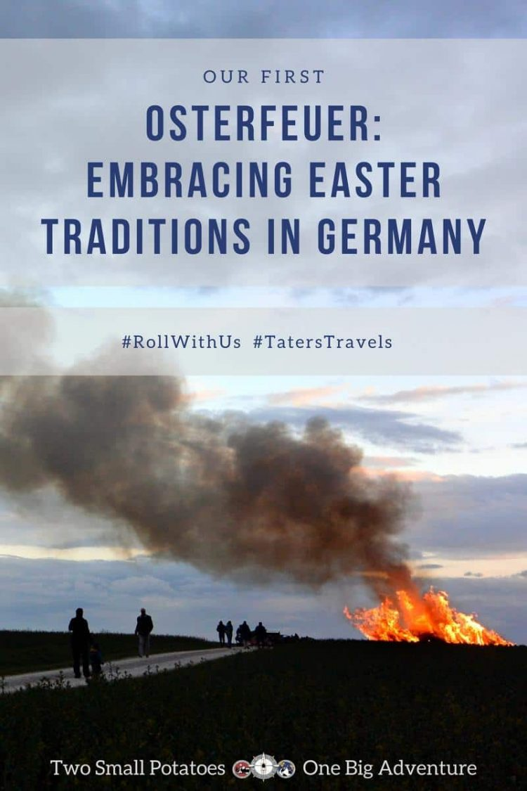 Pinterest pin, Easter in Germany by Two Small Potatoes expats