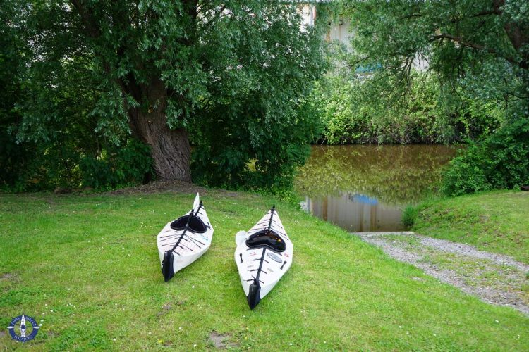 Best place to launch boats for kayaking the Medem River in Germany