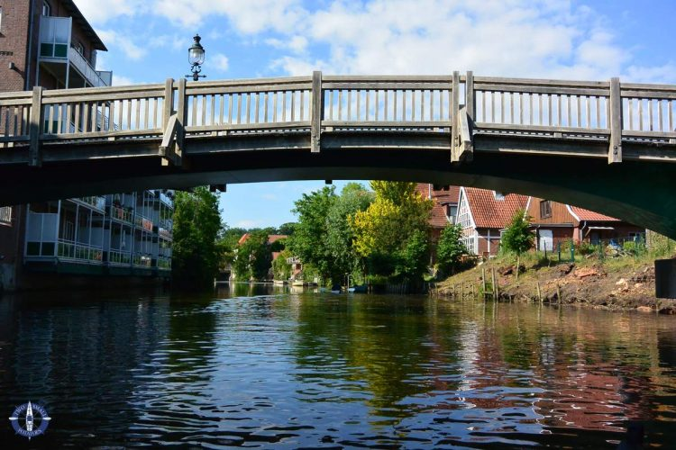 Bridge over the Medem River in northern Germany