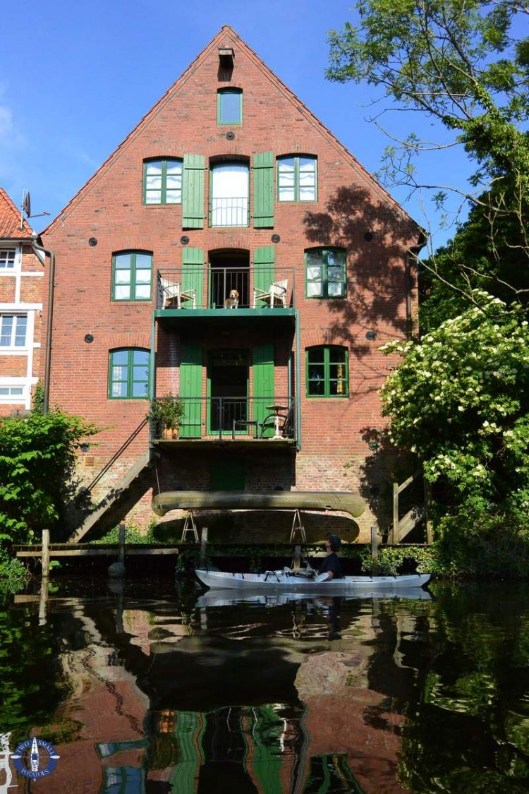 Beautiful brick home on the Medem River in Germany