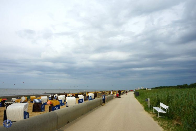 Beach boardwalk at Duhnen Strand, Cuxhaven, Germany