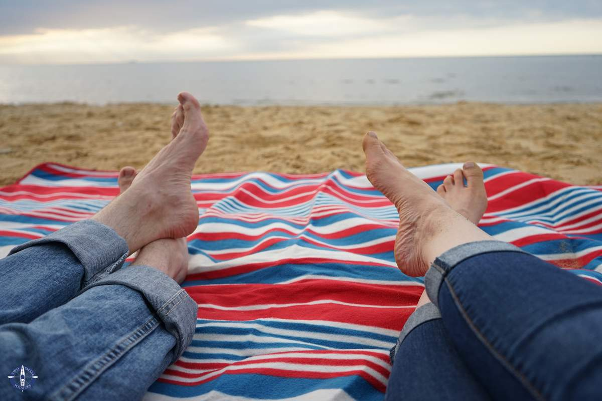 Relaxing on the beach, one of the best things to do in Cuxhaven, Germany