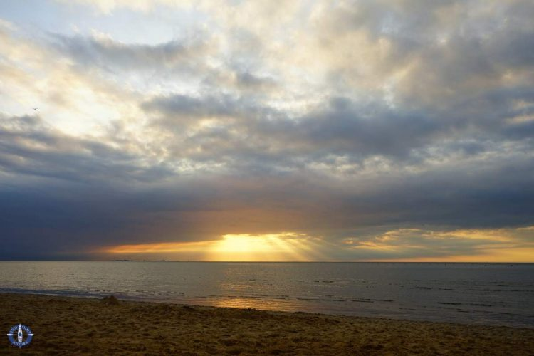 Sunset on the Wadden Sea is one of the best things to do in Cuxhaven, Germany